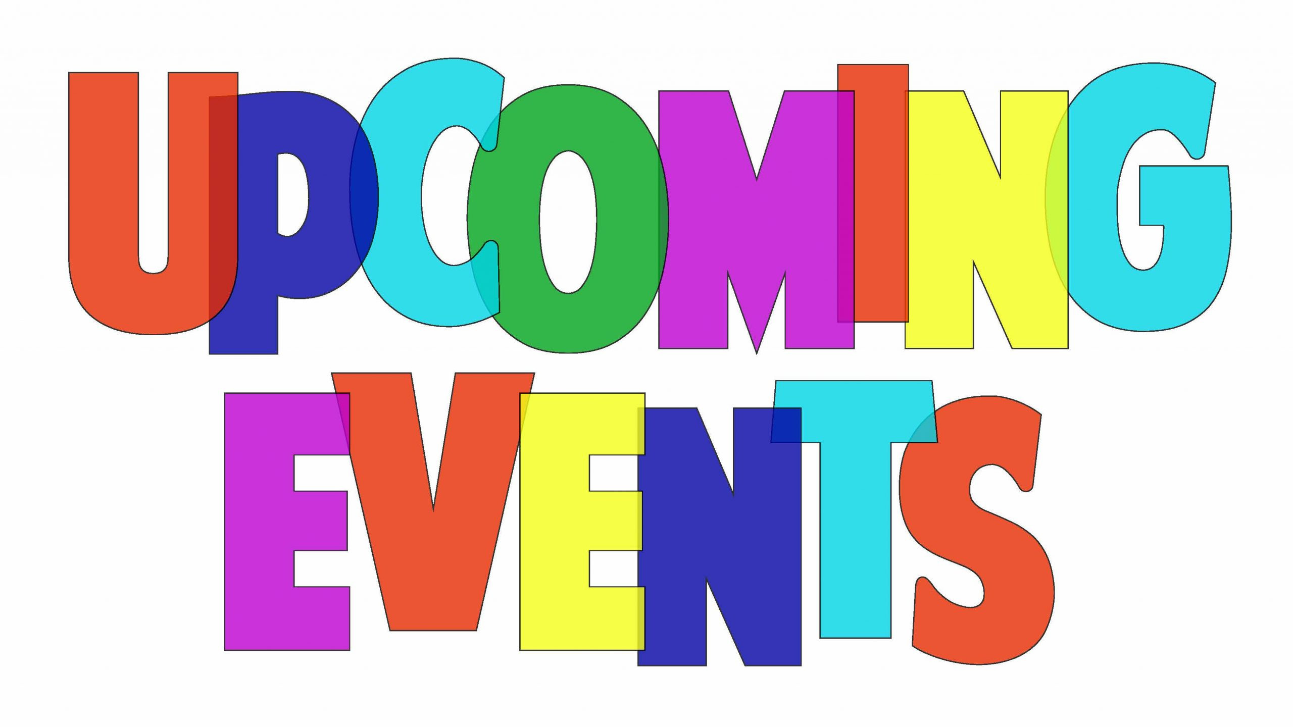 Upcoming Events for 2021